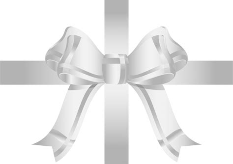 Ribbon Silver silver ribbon bow free stock photo domain pictures