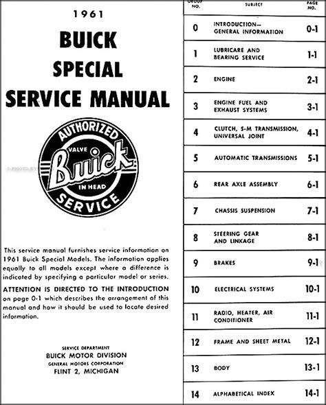 auto manual repair 1962 buick special user handbook 1961 buick special shop manual 61 original repair service book oem ebay