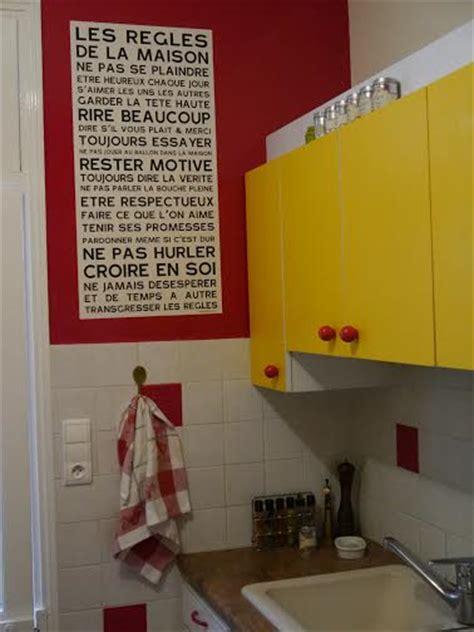 regle cuisine les r 232 gles de la maison home poster affiche sticker