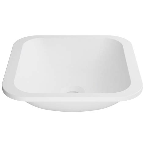 Solid Surface Undermount Sinks by Kraus Natura 14 6 In Solid Surface Undermount Sink Basin