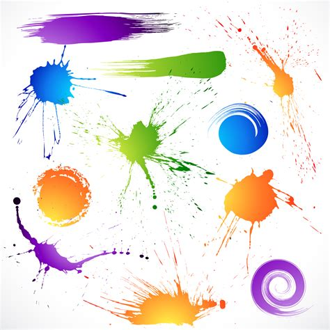 Teh Siiplah the splash brush effects vector free vector 4vector