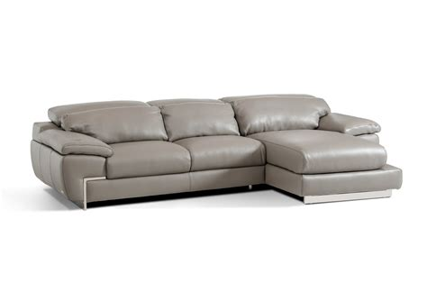 modern gray sectional sofa molino modern grey leather sectional sofa