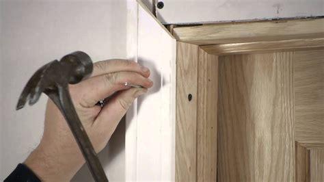 Install Door Trim by How To Install Interior Door Casing Door Installation