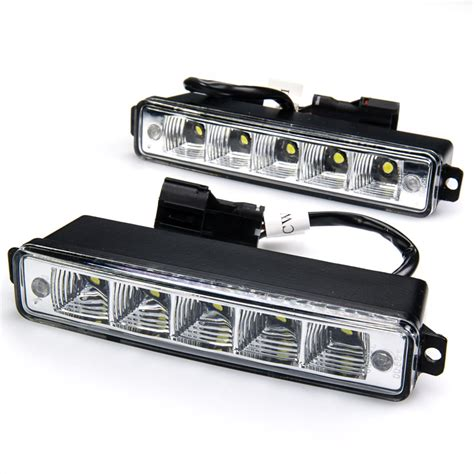 Led Daytime Running Light high power side mounted led daytime running light kit led car lights 12v replacement bulbs