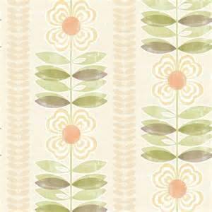 Modern Floral Wallpaper by Avril Yellow Modern Floral Stripe Wallpaper Contemporary