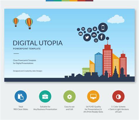 Digital Utopia Powerpoint Template On Behance Digital Powerpoint Template