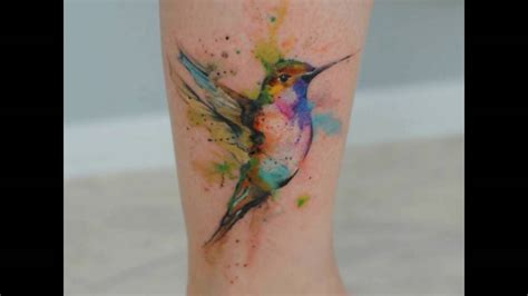 imagenes tatuajes colibri tatuajes de colibr 205 en acuarela youtube
