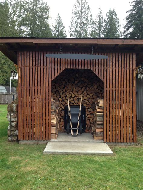 Garden Shed With Firewood Storage