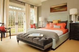 Windows and french doors provide sunlight and direct access to the