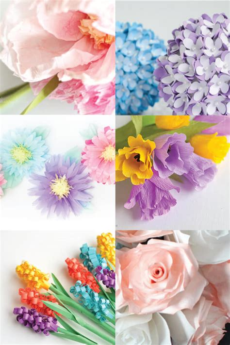 How To Make Different Types Of Flowers With Paper - how to make tissue paper flowers four ways hey let s