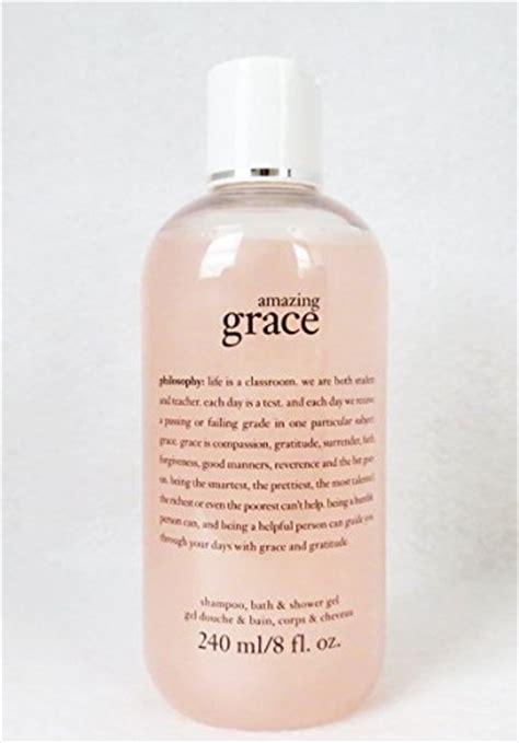 amazing grace shoo bath shower gel philosophy amazing grace bath shoo shower gel 8 oz philosophy beautil