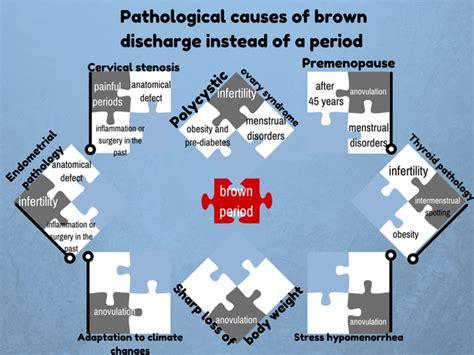 light brown spotting  types