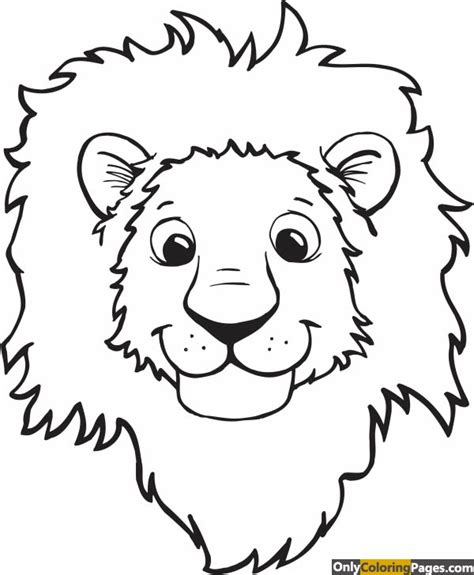 coloring page lion face lion head coloring pages pinterest lion head coloring