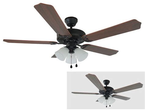 corner ceiling fans rubbed bronze 52 quot ceiling fan w light kit