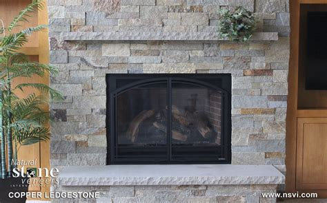 How To Put On A Fireplace by Copper Ledgestone Fireplace Veneers Inc