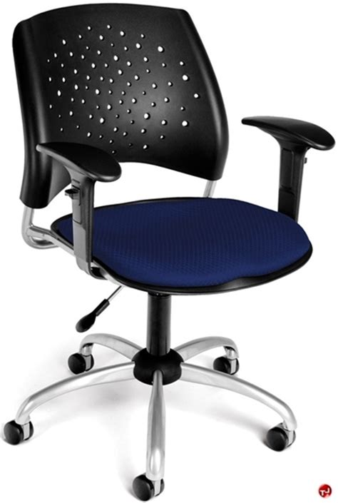 Plastic Office Chair by The Office Leader Office Task Plastic Swivel Arm Chair