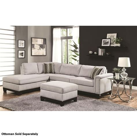 coaster 503615 grey fabric sectional sofa a