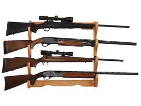 Rifle Racks by Allen Wall Display 4 Gun Rack Wood