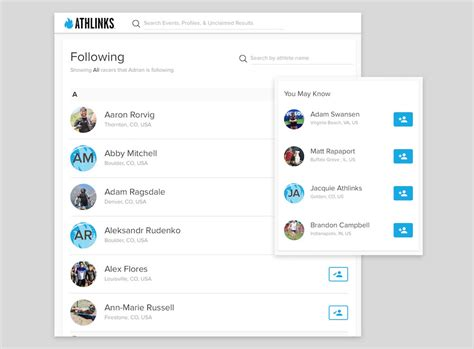 Search You Follow How To Get The Most Out Of Athlinks Athlinks