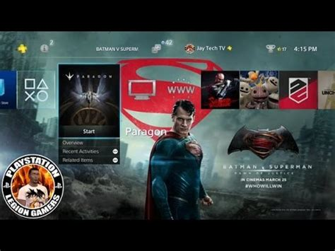 ps4 themes superman batman v superman ps4 theme psvr pre order info youtube