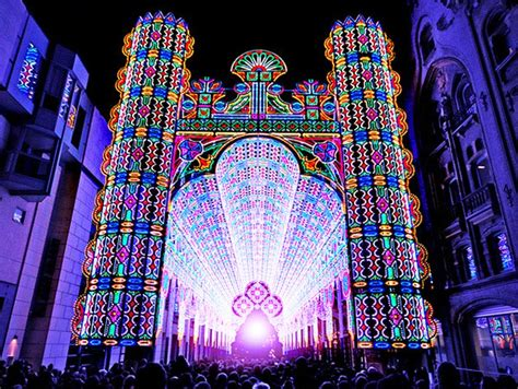 amazing cathedral made from 55 000 leds rises at belgium s