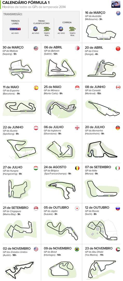 Calendario F1 2014 Calend 225 De 2014 Da F 243 Rmula 1 Globoesporte