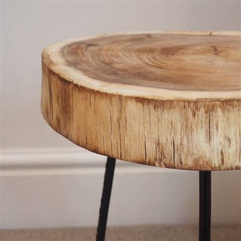 tree trunk bedside table tree trunk side table by za za homes notonthehighstreet com