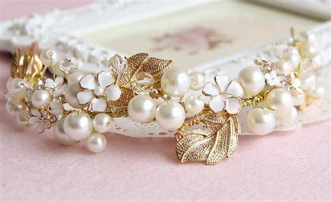 Handmade Hair Bands - hair bands headband handmade marriage wedding dress