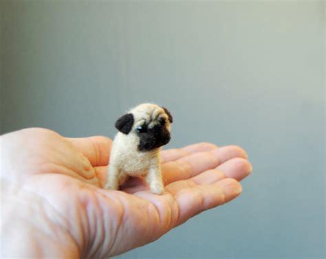 pug miniature miniature pug puppy dollhouse puppy needle felted