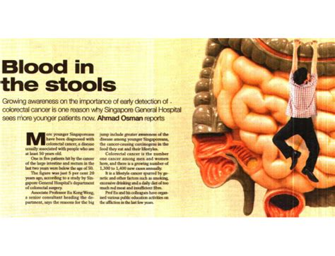 Why Would Blood Be In Stool by Omg Singapore At Risk Of Colon Cancer
