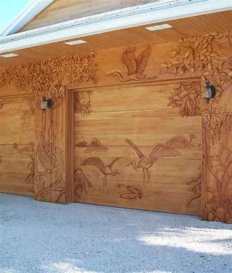 wood garage doors carved wood entry doors garage doors wall panels