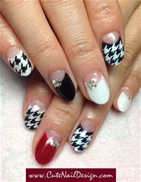 houndstooth pattern nails houndstooth pattern nails nail art gallery