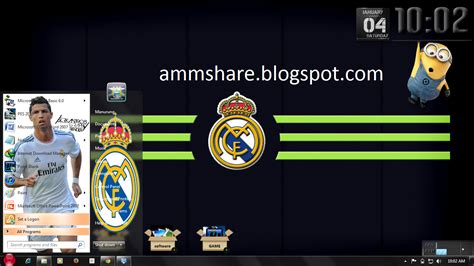 download themes real madrid windows 7 theme real madrid for windows 7 amm share