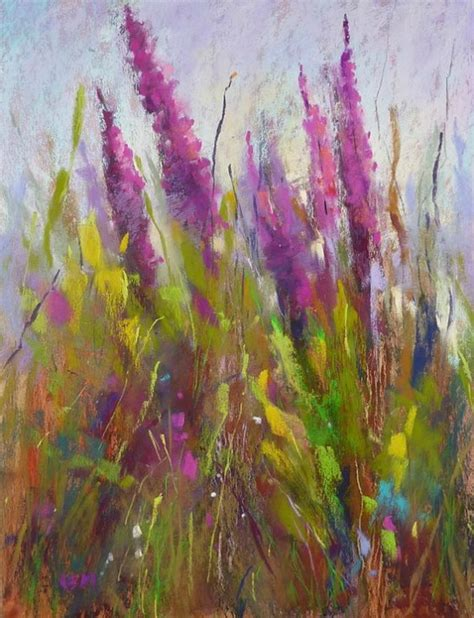 Pastel Painting Wild Flowersl L