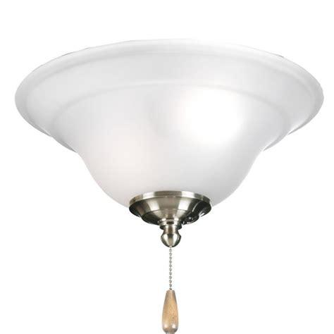 progress lighting ceiling fan progress lighting collection 3 light brushed