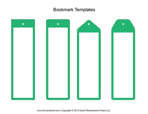 Avery Bookmark Template by Tim De Vall Comics Printables For