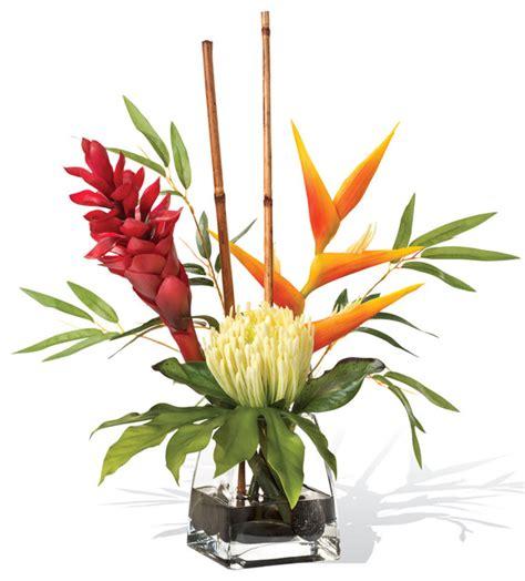 artificial floral arrangements protea and torch accent artificial flower