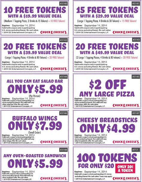printable food coupons december 2014 17 best images about chuck e cheese printable coupons for