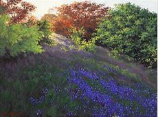 RUSSELL CUSHMAN (TEXAS), BLUEBONNET PAINTING - Jo Anne ... Austin Texas 78729
