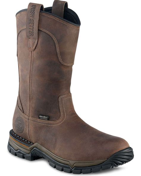 wing pull on work boots wing setter two harbors waterproof pull on work