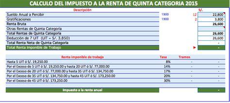 calcular devolucion de la renta 2015 3 casos pr 225 cticos de calculo de renta de 5ta categor 237 a