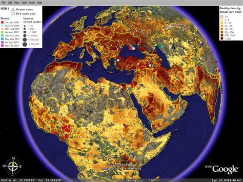 googl earth maps earth maps of avian flu spread