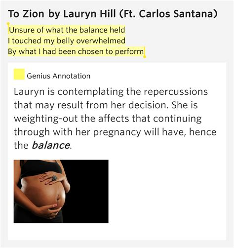 lauryn hill zion lyrics meaning unsure of what the balance held i touched my belly