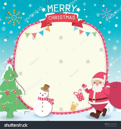 Merry Christmas Template Card Design Santa Stock Vector 744047605 Shutterstock Merry Templates