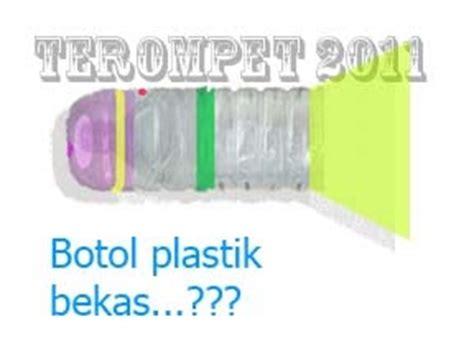 Terompet Plastik Tiup Besar sentuhan tangan cara membuat terompet tahun baru dari botol plastik