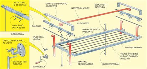 stendino da soffitto stendino verticale da soffitto come costruirlo fai da te