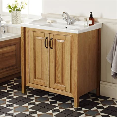 wooden bathroom vanity units uk grenville american oak solid wood vanity unit available