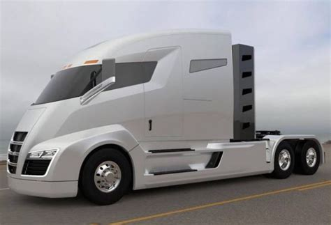 tesla electric truck nikola one electric truck with turbine is the tesla of