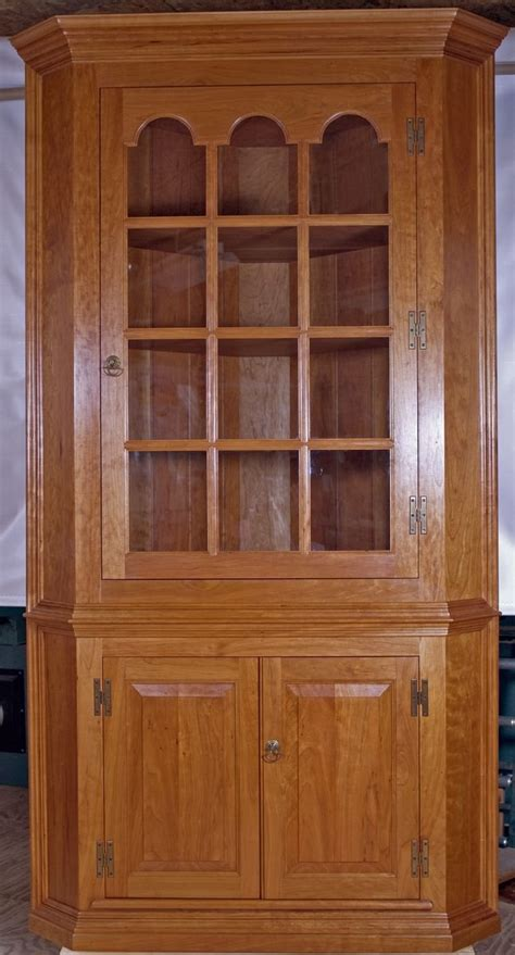 cherry wood corner cabinet hand made solid cherry corner cabinet by cedar row