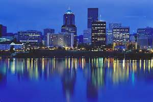 Portland downtown at night